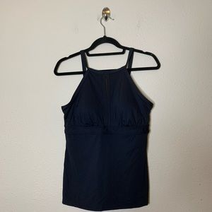 Lands End Keyhole High Neck Modest Tankini Top